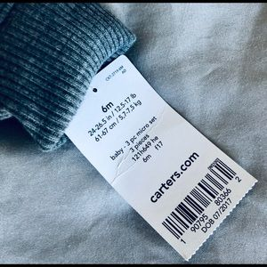 Carter's Shirts & Tops - NWT Carter's 6 mo bear zip up grey sweatshirt